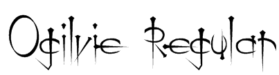 Ogilvie Regular Font