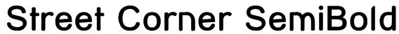 Street Corner SemiBold Font