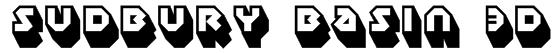 Sudbury Basin 3D Font