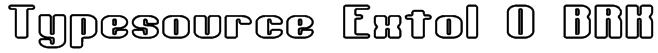 Typesource Extol O BRK Font