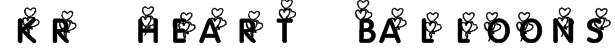 KR Heart Balloons Font