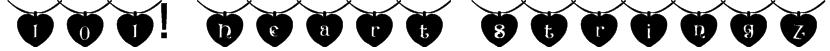 101! Heart StringZ Font