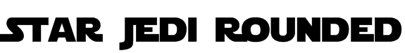 Star Jedi Rounded Font