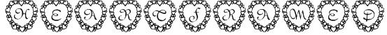 101! Heart Framed Font