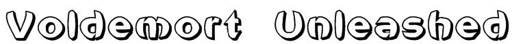 Voldemort Unleashed Font