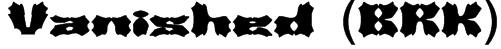 Vanished (BRK) Font