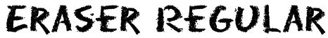 Eraser Regular Font