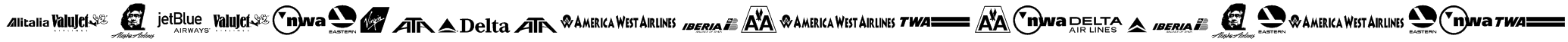 Airline Logos Past and Present Font