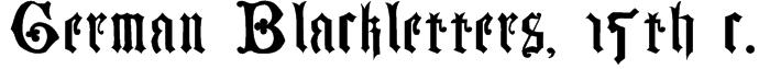 German Blackletters, 15th c. Font