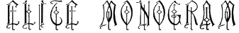 Elite Monogram (Alternika Fonts) Font