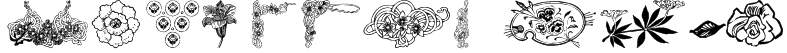 wmflowers3 Font