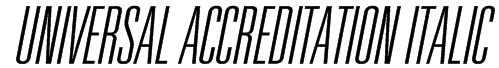Universal Accreditation Italic Font