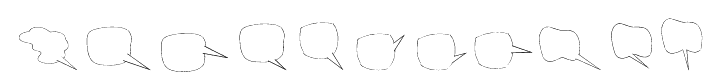 Freaky Comment Balloons LT Font