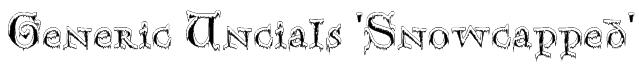 Generic Uncials 'Snowcapped' Font