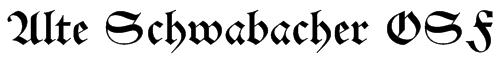 Alte Schwabacher OSF Font