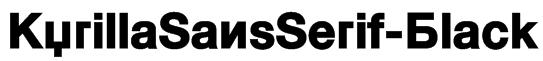 KyrillaSansSerif-Black Font