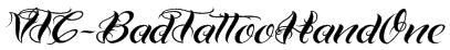 VTC-BadTattooHandOne Font