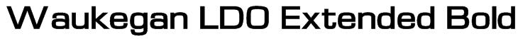 Waukegan LDO Extended Bold Font