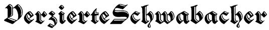 VerzierteSchwabacher Font