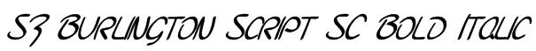 SF Burlington Script SC Bold Italic Font