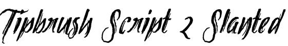 Tipbrush Script 2 Slanted Font