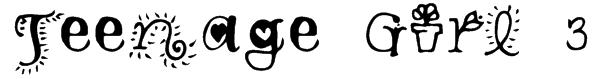 Teenage Girl 3 Font