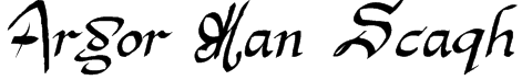 Argor Man Scaqh Font