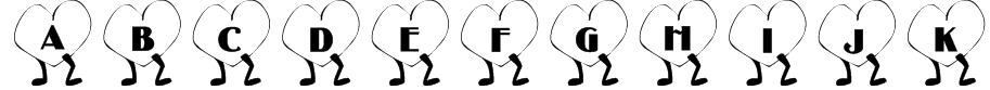 101! Walkin' Heart Font