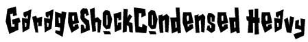 GarageShockCondensed Heavy Font