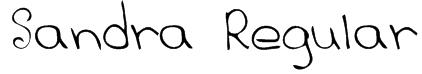 Sandra Regular Font
