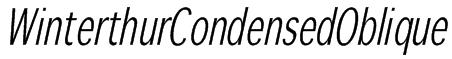 WinterthurCondensedOblique Font