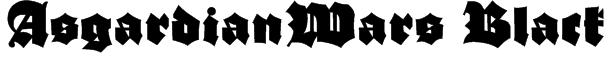 AsgardianWars Black Font