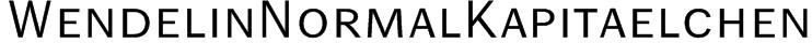 WendelinNormalKapitaelchen Font