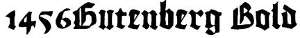 1456Gutenberg Bold Font