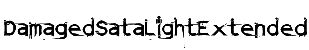 DamagedSataLightExtended Font