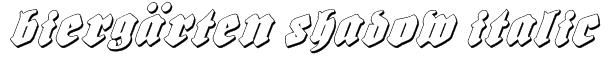 Biergärten Shadow Italic Font