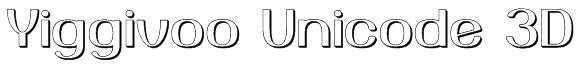 Yiggivoo Unicode 3D Font