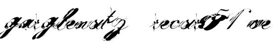garglenutz  recur51ve Font