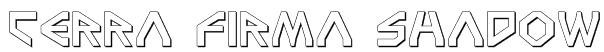 Terra Firma Shadow Font