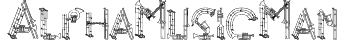 AlphaMusicMan Font