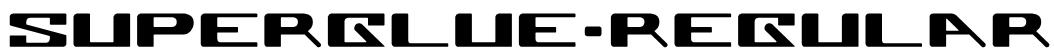 Superglue-Regular Font