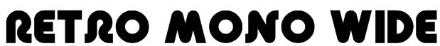 Retro Mono Wide Font