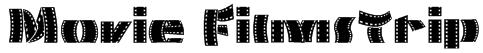 Movie Filmstrip Font
