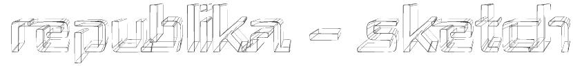 Republika - Sketch Font