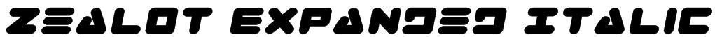 Zealot Expanded Italic Font
