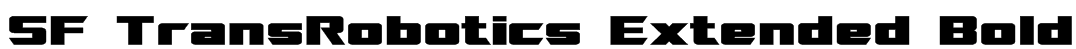 SF TransRobotics Extended Bold Font