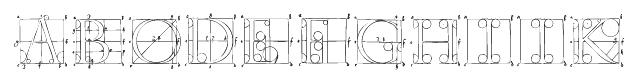 DuererLatinConstructionCapitals Font