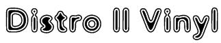 Distro II Vinyl Font