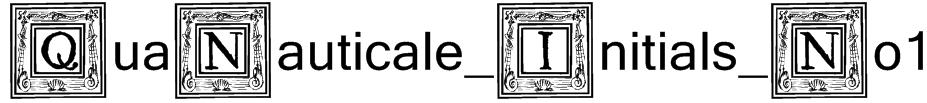 QuaNauticale_Initials_No1 Font