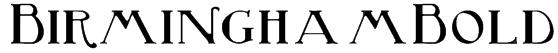 BirminghamBold Font